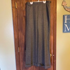 J. Crew grey wool cuffed dress pants 10